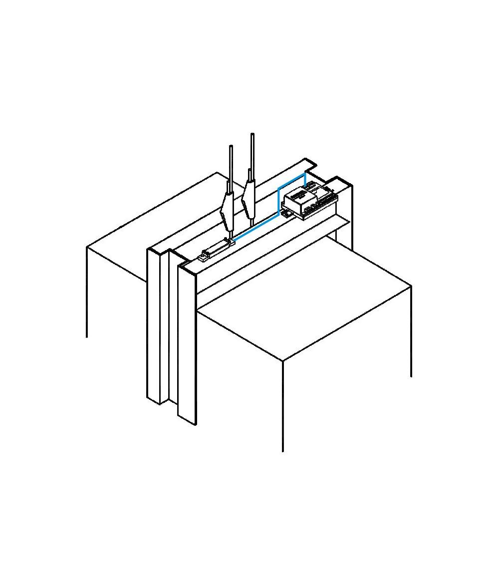 Capteur de tension sur arcade LMX - 1800 Kg