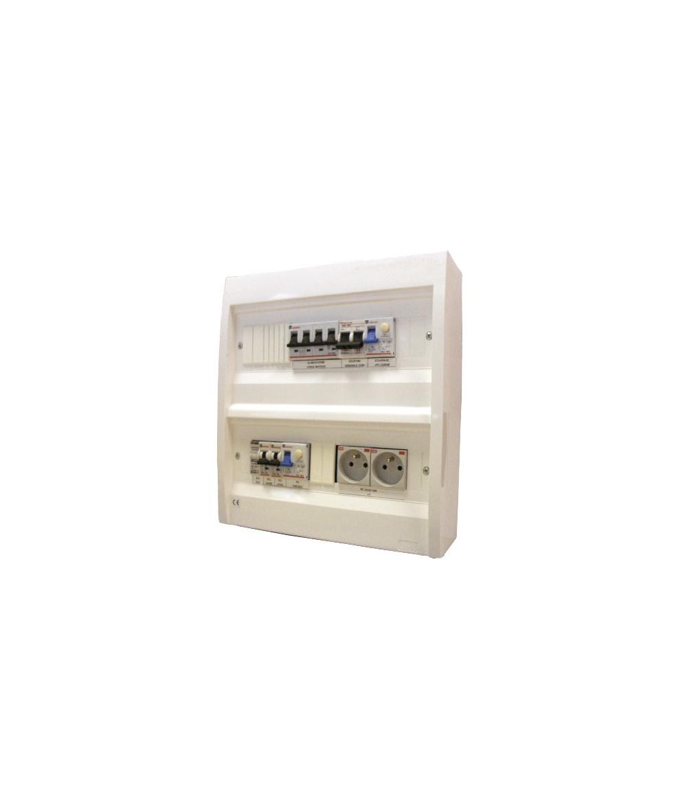 Coffret plastique DTU simplex 32 A 230V Tri - IP 40
