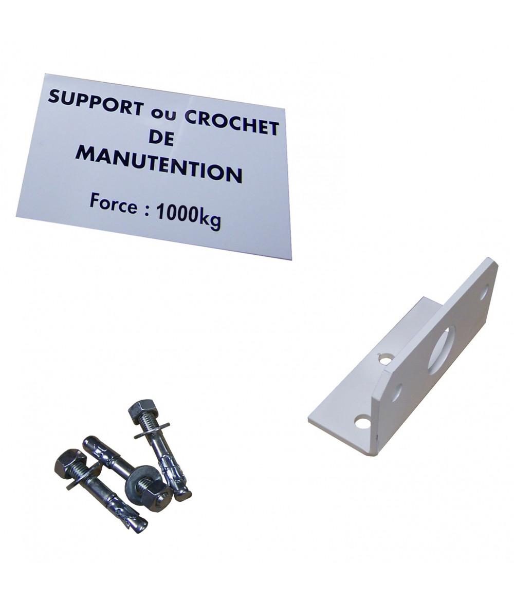Kit Anneau de manutention + cheville + plaque 500Kg